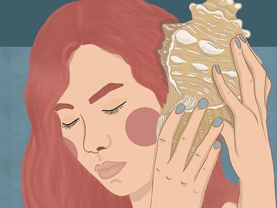 Seashell illustration drawing digitalartwork digitalartist digitalart