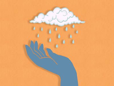 Raindrops melancholy raindrawing pastelcolors blue orange hand rain design illustration drawing digitalartwork digitalartist digitalart