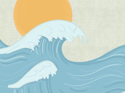 Waves drawingart sketch draw pastelcolors blue sun drawingwaves waves illustration drawing digitalartwork digitalartist digitalart