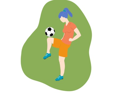 Women in Sports women empowerment womenfootball football sport womeninsport pastelcolors drawing digitalartwork digitalartist digitalart illustration
