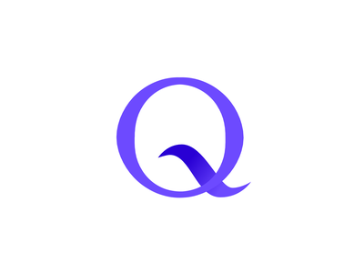 Q #1 Logo logo vector minimal typography icon