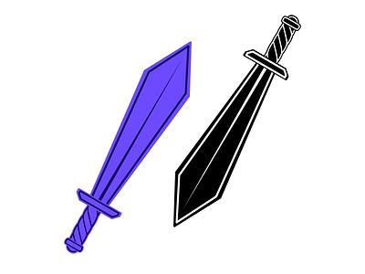 Q Swords sword flat vector