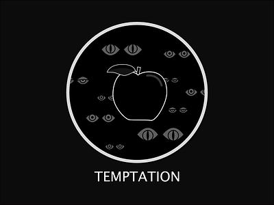 Eyes temptation apple eyes eye minimal flat vector