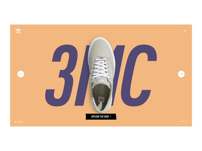 adidas 3MC Shoe web ux interaction design after effects ui animation interactive aftereffects animation web design design ui