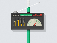 Watts meter illustration