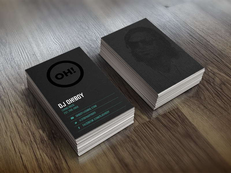 DJ Oh Boy Business Cards businesscards branding