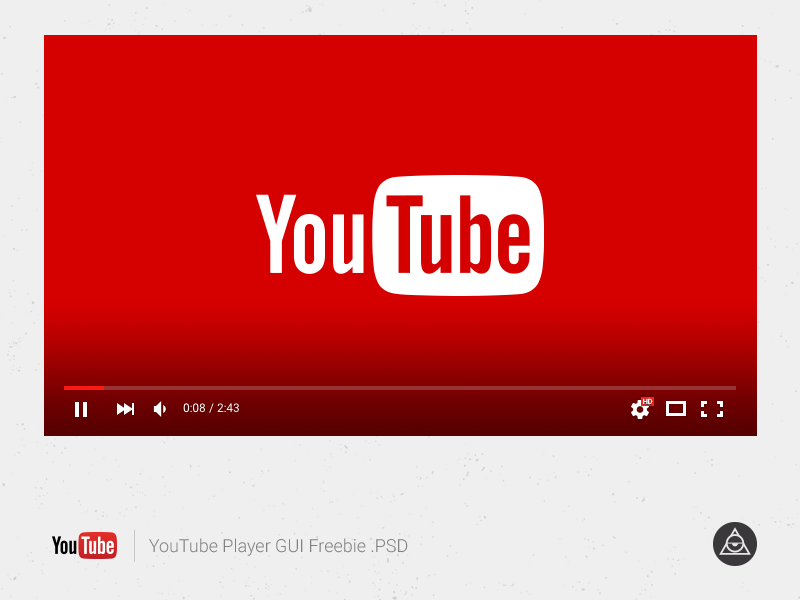 Youtube Player Gui vector youtube psd freebie