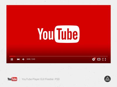 Youtube Player Gui vector youtube psd freebie