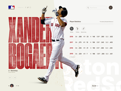 Boston Redsox Xander Bogaerts baseball web deisgn web design