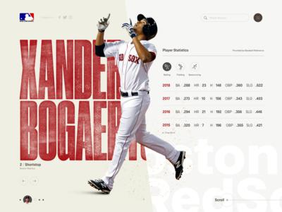 Boston Redsox Xander Bogaerts baseball web deisgn web design
