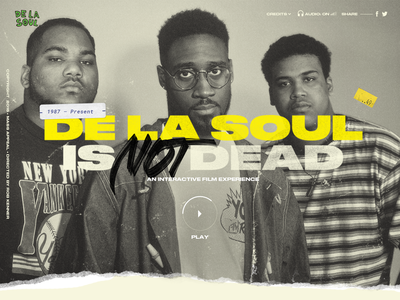 De La Soul is NOT Dead music ux uidesign uiux ui documentary interactive