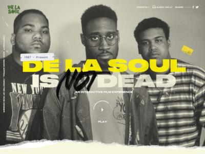De La Soul is NOT Dead music ux uidesign uiux ui documentary interactive