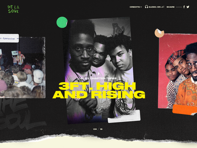 De La Soul is not dead interactive web design web ui design