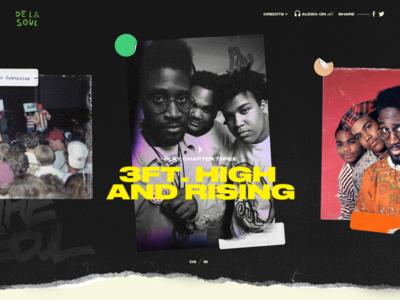 De La Soul is not dead interactive web design web ui design