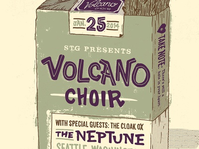 Volcano Choir Gig Poster