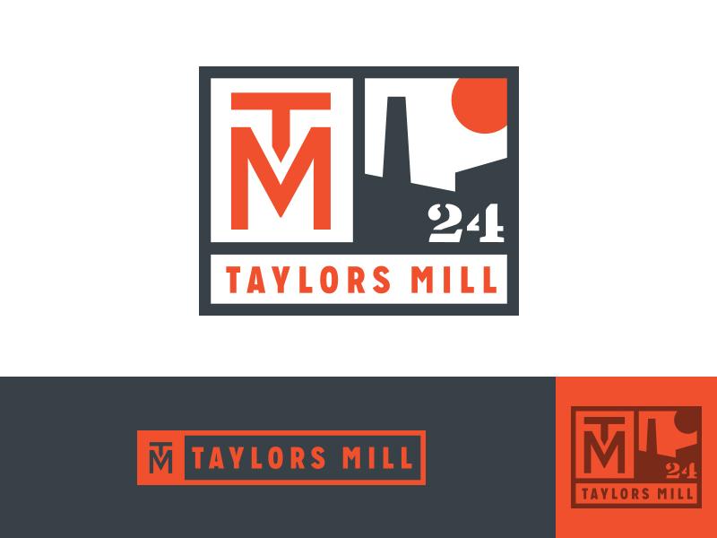 Taylors Mill Logo chimney smoke-stack sun 1924 textile mill taylors