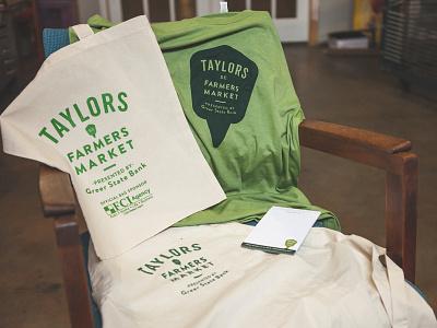 Taylors Farmers Market Swag notepad shirt mcgoats tote bag swag