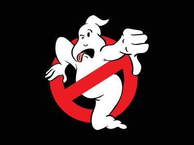 Busted gross ew hollywood movies illustration hell no no ghost thumbs down boo logo ghostbusters