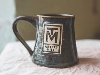 Taylors Mill Mug ceramics logo mug branding