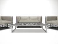 Metal furniture set1