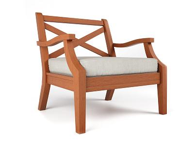 Teak Chair vray rendering render modeling furniture archviz max 3ds