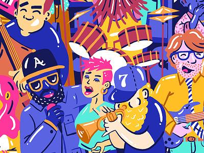 fun illustration flat instruments illustration music