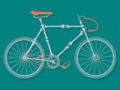 bonecycle bones bike ribs femur art crank gear pedals seat dead bicycle tires desert