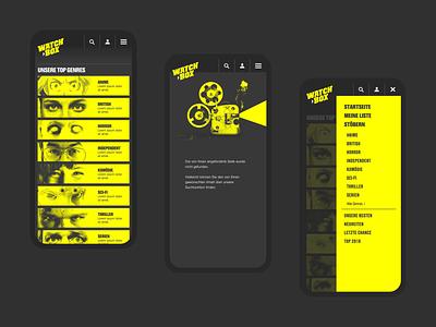 WATCHBOX ・ webdesign interactiondesign designsystem prototyping webdesign identitydesign