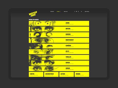 WATCHBOX ・ prototype interactiondesign designsystem prototyping webdesign identitydesign