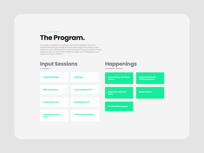 leAD ・ join the program interactiondesign cms frontend webdesign