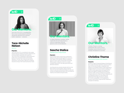 leAD ・ mentors in detail interactiondesign cms frontend webdesign