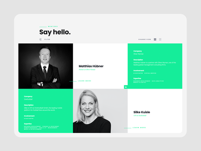leAD ・ meet the mentors interactiondesign cms frontend webdesign