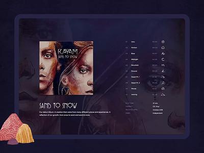 KAYAM ・ sing along contentcreation designsystem printdesign interactiondesign cms frontend webdesign identitydesign