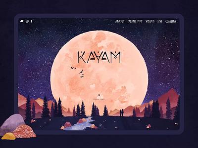 KAYAM ・ an invitation contentcreation designsystem printdesign interactiondesign cms frontend webdesign identitydesign