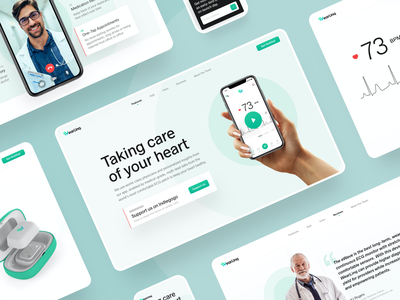 WearLinq mobile app mobile ui web webdesign website design interface mvp prototype doctor appointment health app healthcare uidesign website builder doctor doctor app ehealth webdesig website