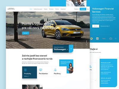 Volkswagen Financial Services white blue vehicle car ux ui responsive webdesign web services financial volkswagon vw sketch service