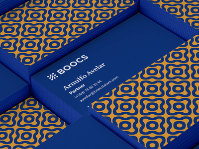 BOOCS Business Card pattern design vector el salvador branding and identity type branding design fintech finance logo logo design business card branding