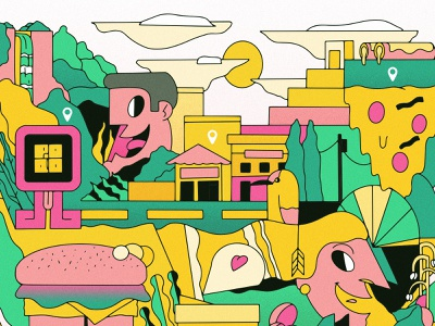 Santa Ana x Defie city branding vector illustrator illustrations illustration design colorful lineart drawing vector design branding branding design illustration art city city illustration startup illustration illustration el salvador defie