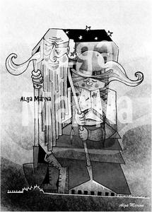 Pensar a Lapiz - Estos Muertos de Nadie by Antuán Rodríguez illustration