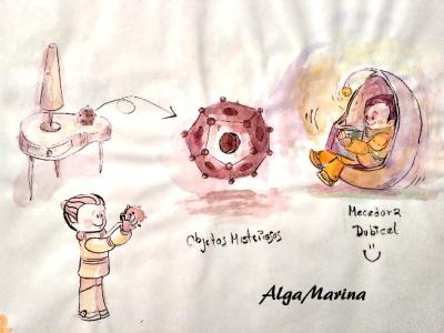 Objetos misteriosos design illustration