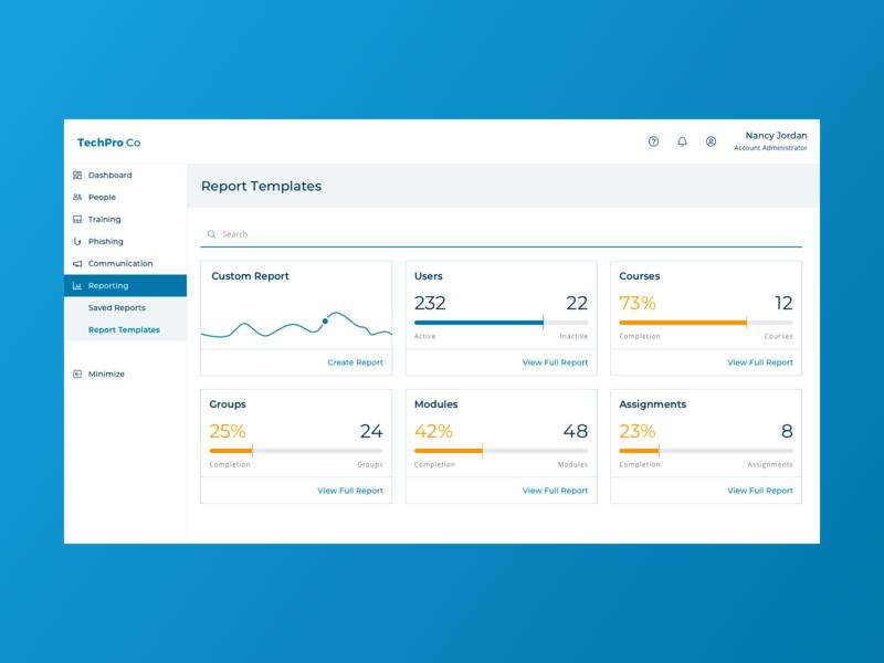 Reporting landing page dashboard ui dashboard user interface design ui design reporting reports