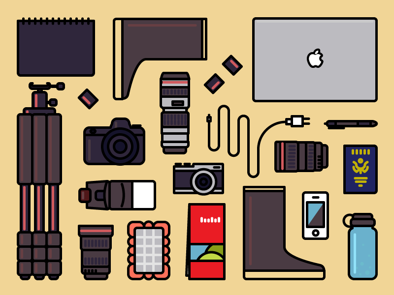 Photography adobe illustrator design prompts photography line camera