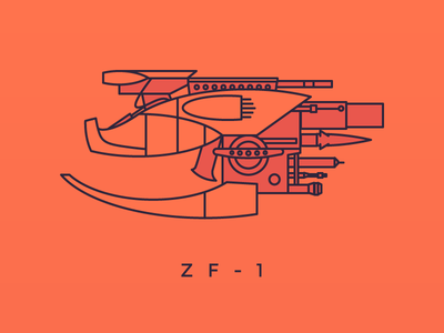 ZF-1 adobe illustrator design prompts zf-1 weapon gun the fifth element