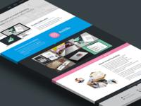 One page portfolio concept