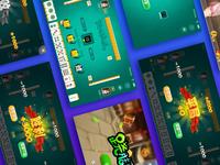 Mobile game mahjong UI