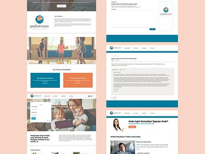 pediatricare kids website pediatricare healtcare health web design webdesign design ui design ui