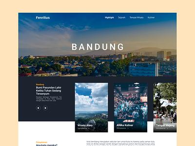 Bandung - Paris Van Java inspiration weeklywarmup ui web clean design hometown kota wisata bandung web design landing page landing ui design web ui