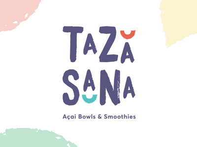 Taza Sana Logo brush bowl logo branding smoothies food acai