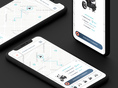 Scooters App marker pin location navigation map moto sharing sharing rent motorcycle scooter