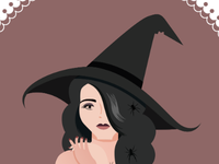 Pinup witch 5